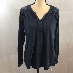 Style &Co NWT V style neck denim look  floral